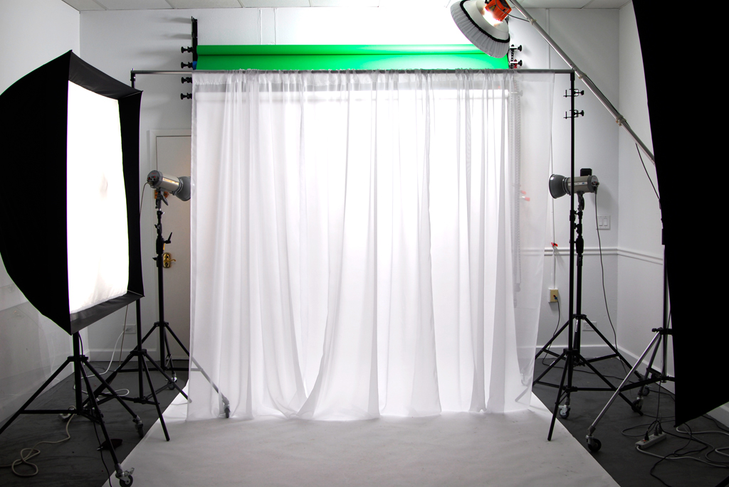 how to put sheer panels on backdrop stand